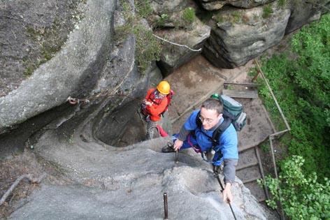 Klettersteig Zittauer Gebirge : Klettersteigführer sachsen klettersteige kletterstiegen steige