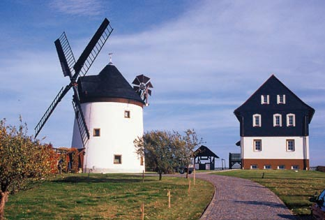Die Windmühle in Sohland am Rothstein